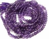 Brazilian Amethyst 3-4 mm plain round beads