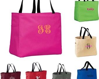 10 Personalized Bridesmaid Tote Bags- Bridesmaid Gift- Personalized Bridemaid Tote - Wedding Party Gift - Name Tote-