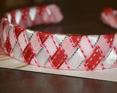 Woven Headband-Pink, Red, and White-Fits Toddler up to Adult-Valentine's Day