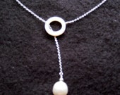 Freshwater Pearl and Mother-of-Pearl Drop Necklace