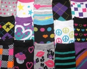 Juz2Crazy Legwarmers armwarmers --FREE SHIPPING-  5 pairs for 25.00 out of my shop