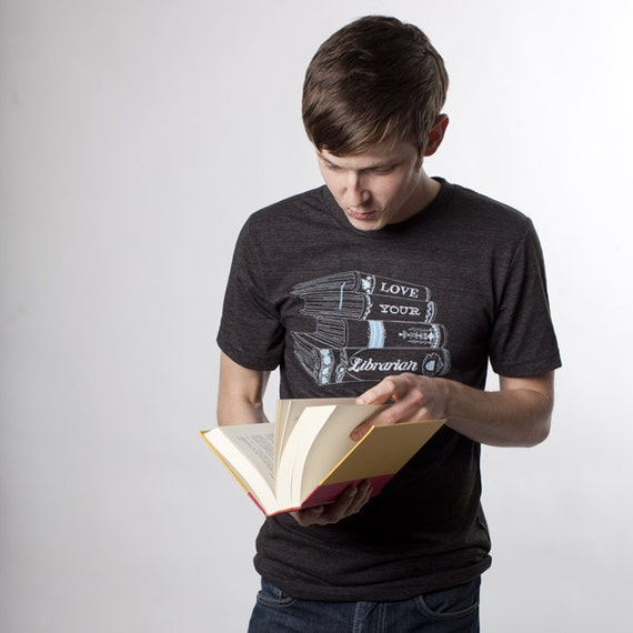 Love Your Librarian Men's Screen Printed T-shirt