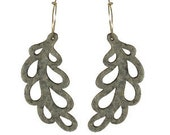 Gray leaf earrings - Reserved for becksu614 only