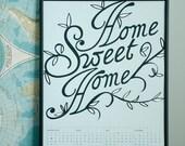 2012 Calendar, Home Sweet Home - Light Blue