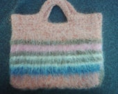 Felted Wool Purse - Lopi Wool - Multi-coloured Stripes