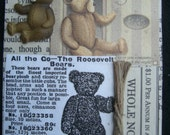 Antique Teddy Bear Advertisement ACEO Collage Picture Ad ATC