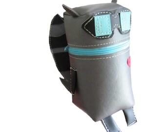 Raccoon Robot Pouch