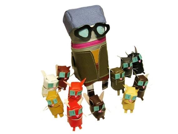 Cat Lady Bot with Twelve Kitties