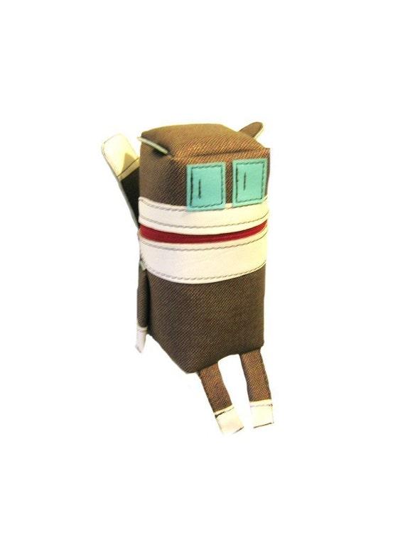 Sock Monkey Robot Pouch