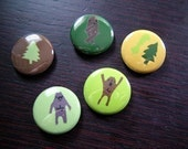 Sasquatch Button Set