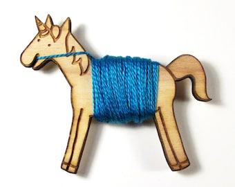 Flossy the Unicorn Embroidery Floss Bobbin