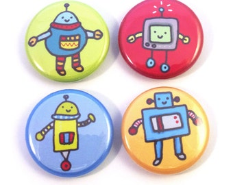 Giant Robot Button Set