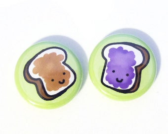 Peanut Butter and Jelly Button Set