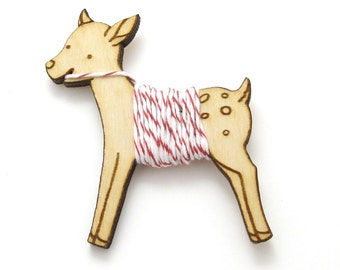 Flossy the Fawn Embroidery Floss Bobbin