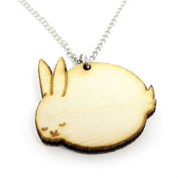 Sleeping Bunny Charm Necklace