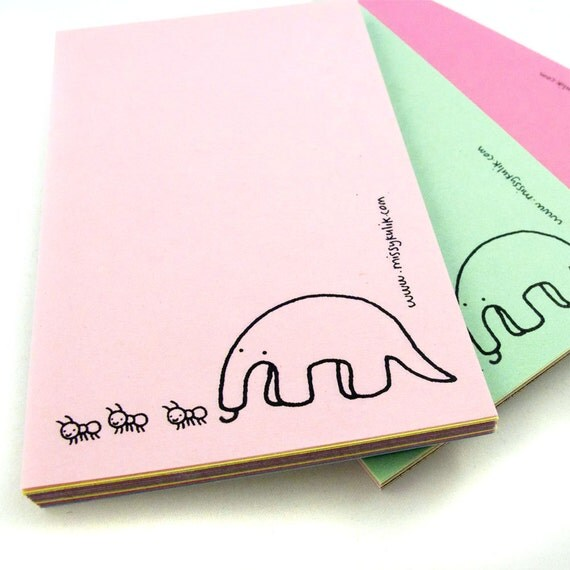 Mr. Anteater Mini Notepad