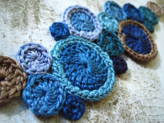 CUSTOM crochet cuff by Even Howard -wide version-