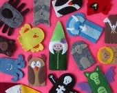 Special Listing for Kelly - Hand Stitched Finger Puppets
