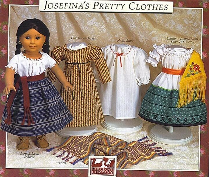 Josefina Birthday Dress: JOSEFINA American Girl Doll Dress Patterns 18 Inch