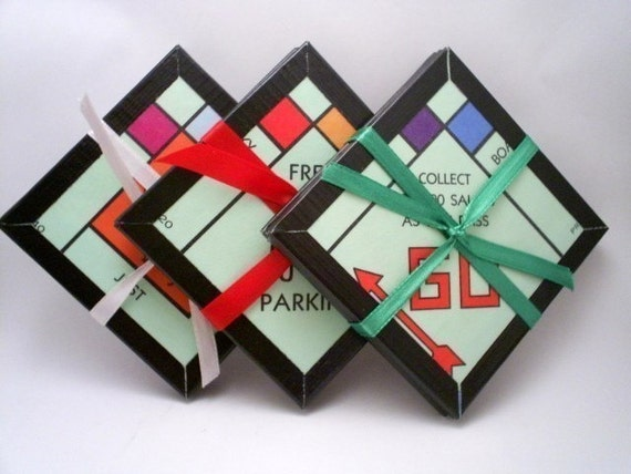 Board Game Coasters - Monopoly
