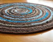 EKRA Custom Round Crochet Rug 3.5 feet in diameter