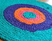 Jewel Tones Crochet Rug