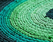 Crochet Area Rug - 3 ft Shades of Green