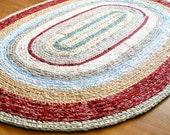 Made to Order - Custom Colors 4'x6' Oval Rag Rug