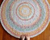 Reserved for Candace White Garden Crochet Rug