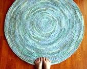 Dreamy Blue - Large Crochet Area Rug by EKRA