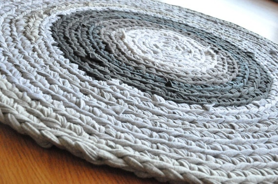 T Shirt Rug - Shades of Gray