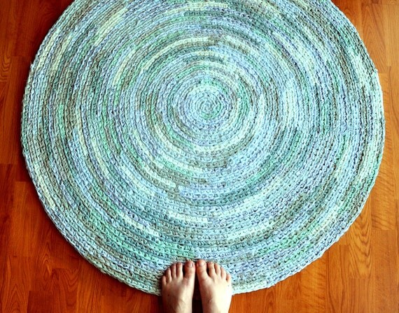 Dreamy Blue - Large Crochet Area Rug by EKRA