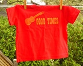 Ukulele Good Times Screenprinted Toddler Shirt