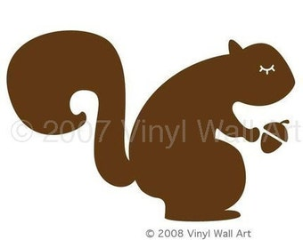 Vinyl Squirrel Wall Decal LARGE