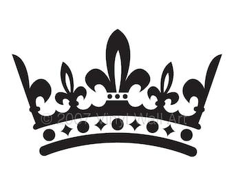 Crown Vinyl Decal Size SMALL - Bedroom Design, Office Wall Art, Home Decor, Little Girl Designs, Nursery Decor, Queen, King,