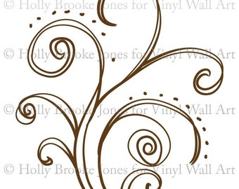 Celebrate Doodle Decal SMALL - Child Decor, Children's Room, Nursery Decal, Artistic Flair, Office Decor, Home Decor, Bedroom Decal,