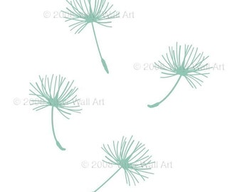 Dandelion Seed Vinyl Decals (Set of 4) SMALL, Dandelion, Home Decor, Office Decals, Window Stickers