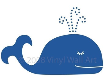 Whale Vinyl Wall Decal X-LARGE