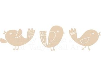 Song Bird Wall Decals (Set of 3) MEDIUM