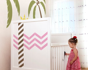 Chevron Vinyl Wall Decals size SMALL -  Artistic Flair, Office Decor, Home Decor, Bedroom Decal, Nursery Decal