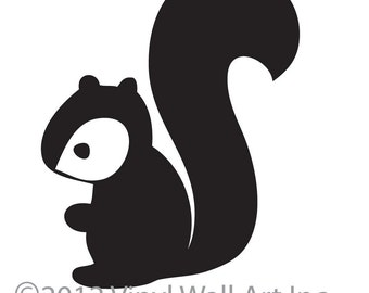 Woodland Squirrel Vinyl Wall Decal size 2X-LARGE