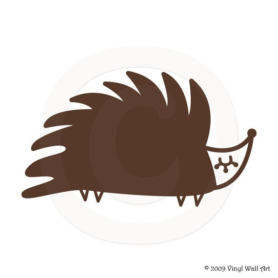 Hedgehog Vinyl Decal size MEDIUM - Home Decor, Children's Room Decor, Nursery Design, Animal Decal, Office Decor
