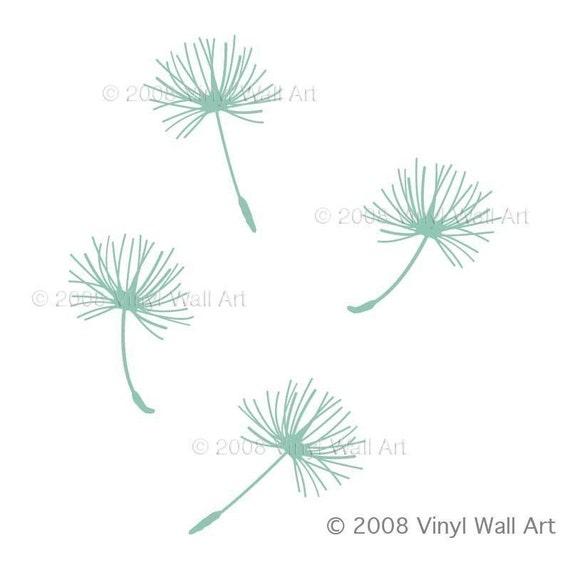 Medium Dandelion Seed Wall Decals (Set of 4)