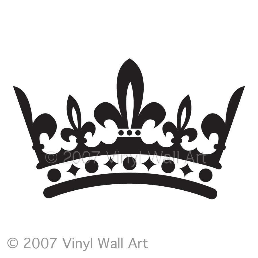 Black Crown Wall Decor : Crown vinyl decal size small bedroom design office wall