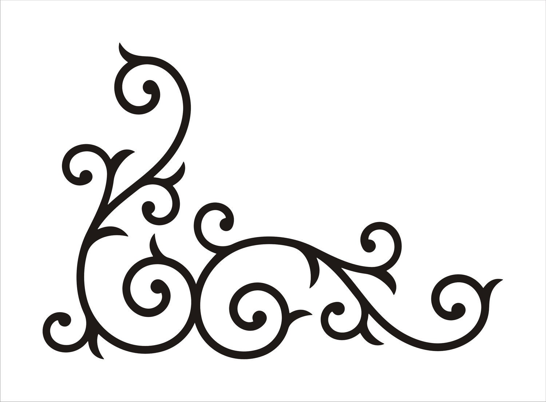 Swirl Design Black Clip Art at Clker.com - vector clip art online ...