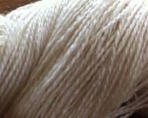 SOCK Organic Merino Wool Undyed Yarn, Ecru Yarn Blank, Organic Sock Yarn, Undyed Sock Yarn, Fingering Weight Yarn