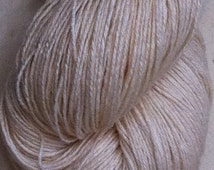 SOCK Organic Cotton Bamboo  Undyed Yarn, Undyed Sock Yarn, Undyed Fingering Weight Cotton Bamboo Yarn, Ecru Yarn Blank
