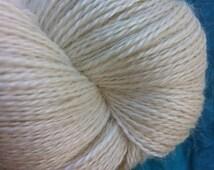 LACE Baby Alpaca Silk Undyed Yarn, Lace Weight Natural Alpaca Silk Undyed Yarn, Undyed Lace Yarn, Ecru Yarn Base