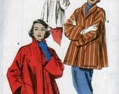 Vint Reprint Womens Swing Coat Jacket Pattern Ca 1952 sz x-sm-sm-med