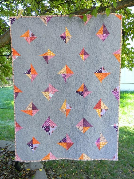 Modern Kites Baby Quilt